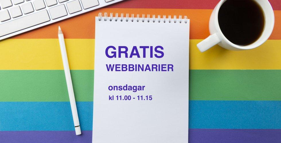 Gratis webbinarier i hbtqi-kunskap från RFSL